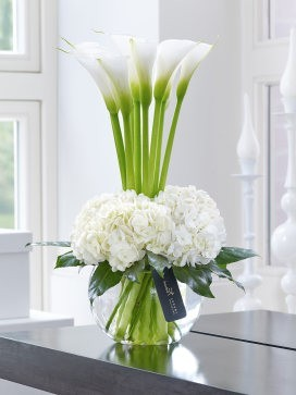 Luxury Calla Lily and Hydrangea Vase