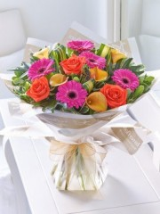 Vibrant Calla Lily, Rose and Gerbera Hand-Tied
