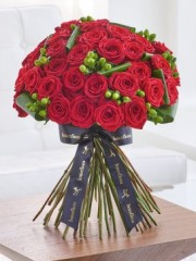 Luxury Crimson Naomi Rose Hand-tied