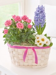 Happy Birthday Blossoming Pastels Basket