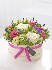 Happy Birthday Summer Florals Hatbox