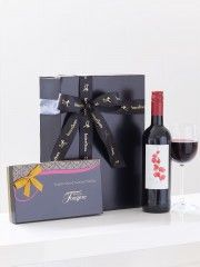 Red Wine and Salted Caramel Truffles Gift Set