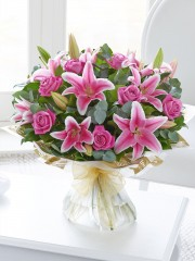 Large Rose and Lily hand-tied