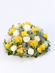 Rose and Freesia Posy -Yellow & White