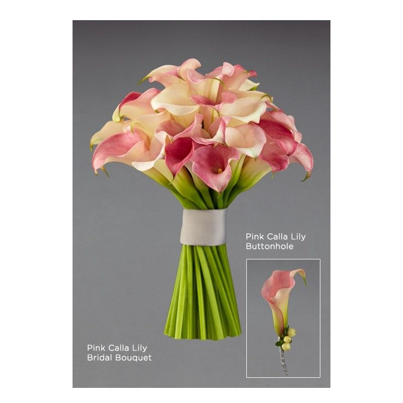 Aberdeen Wedding Flowers Chicago : Pink calla lily buttonhole aberdeen flowers