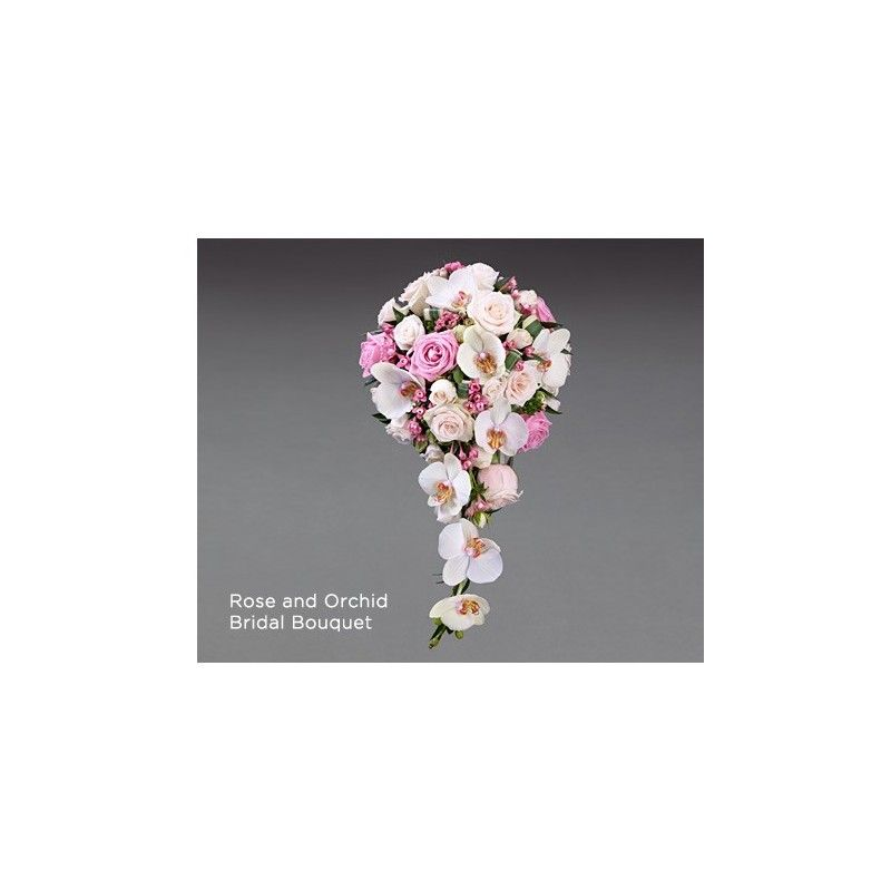 Wedding Bouquets Roses And Orchids : Rose and orchid bridal bouquet aberdeen flowers
