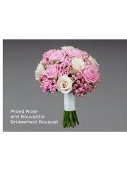 Mixed Rose and Bouvardia Bridesmaid Bouquet
