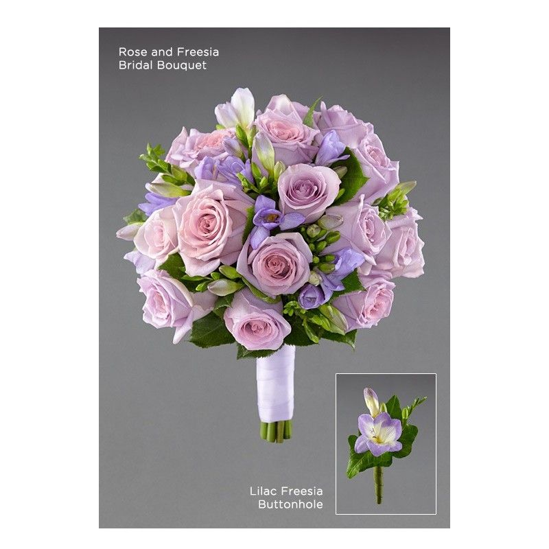 Wedding Flowers Aberdeen: Rose And Freesia Bridal Bouquet