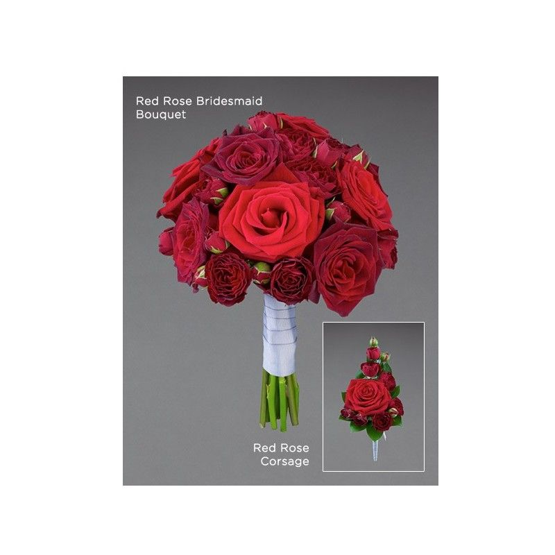 Aberdeen Wedding Flowers Chicago : Red rose corsage aberdeen flowers