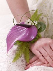 Purple Anthurium Wrist Corsage